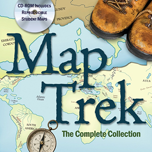 Map Trek atlas and historical outline maps for ancient, medieval, renaissance and modern history