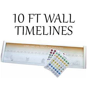 10 Ft Wall Timelines for Ancient, Medieval, New World and Modern History