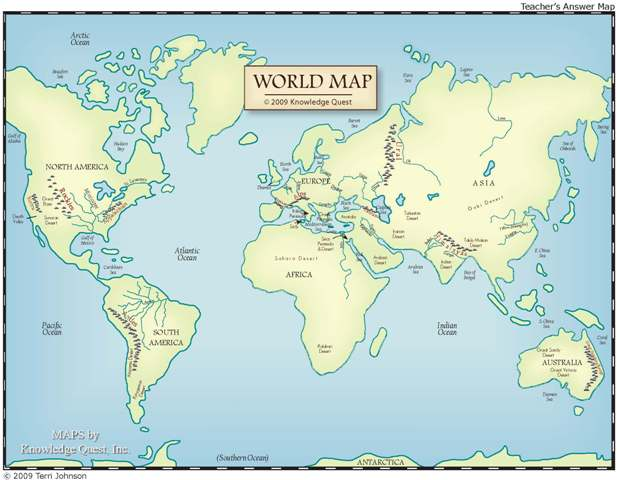 Knowledge Quest Map Trek Ancient World - Ancient rome map blank